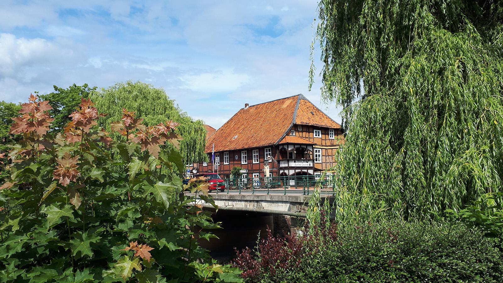 Ansicht der Altstadt von Hitzacker am Wendlandrundweg