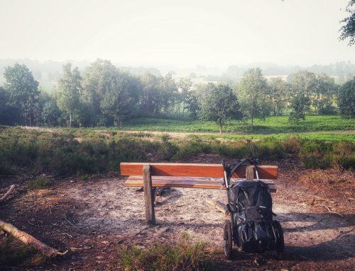 Hünenweg: Lauf mit Pilgerwagen