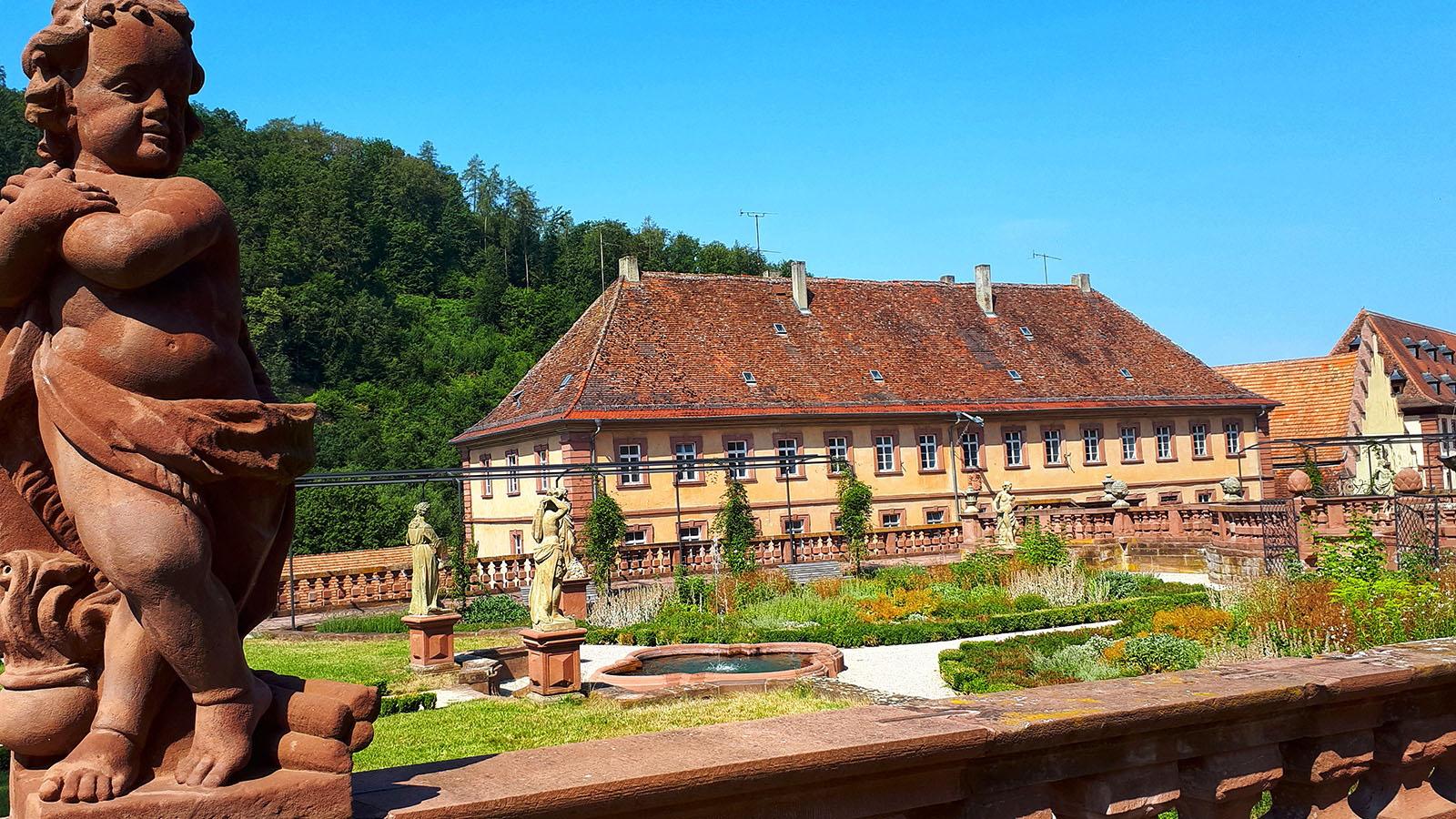 Garten des Klosters Bronnbach
