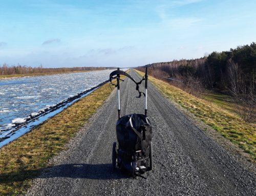 Elbe-Seitenkanal: Lauf mit Pilgerwagen